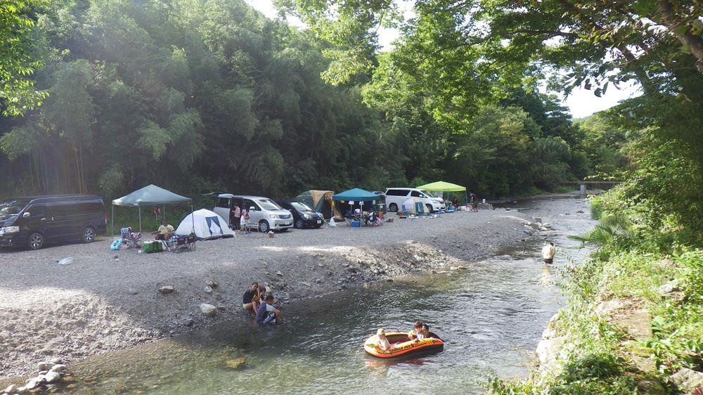 ケーニーズキャンプ場 川原サイト