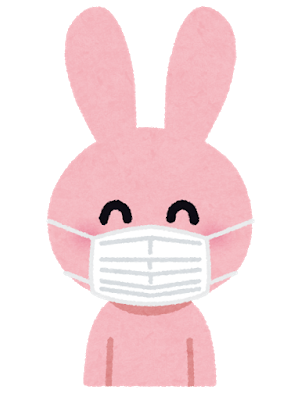 マスクうさぎいらすとや