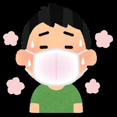 マスク夏 暑い 男性