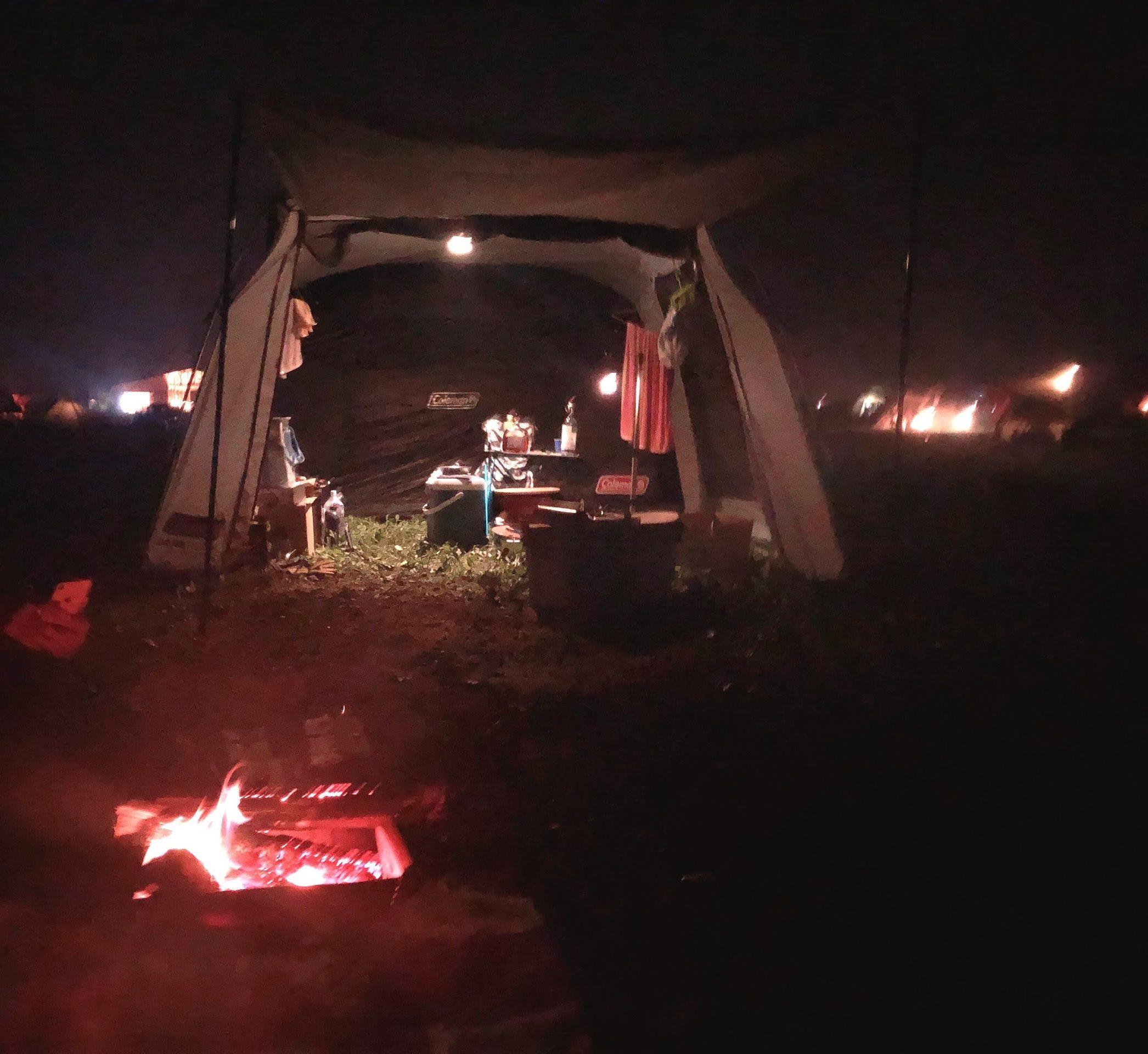 キャンプとたき火