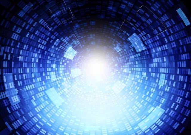 デジタル空間、進化、道のり、相互、回転